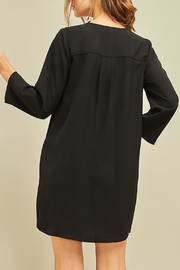 Entro Button Front Dress - Back cropped