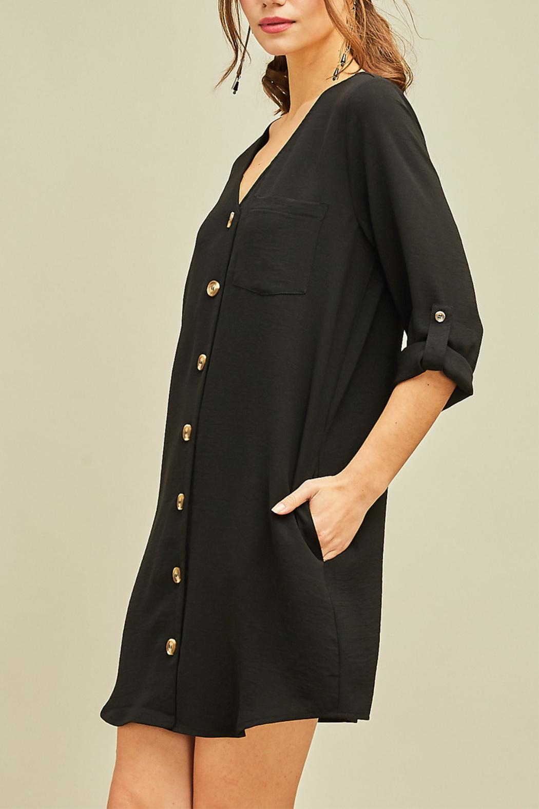Entro Button Front Dress - Front Full Image