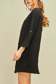 Entro Button Front Dress - Side cropped