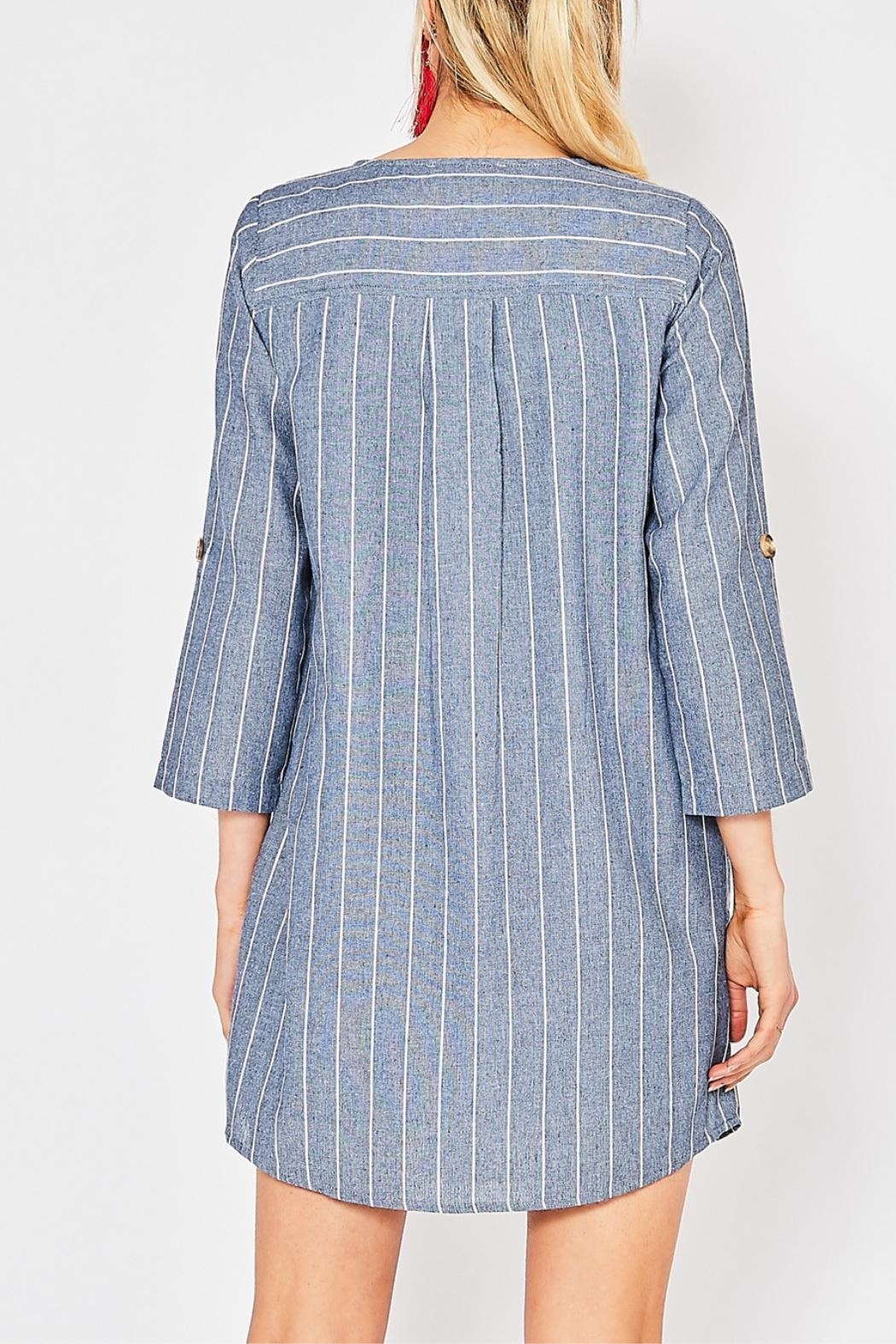 Entro Button Front Dress - Side Cropped Image