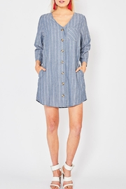 Entro Button Front Dress - Front cropped