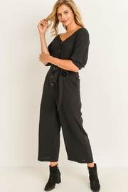 Elegance by Sarah Ruhs Button Front Jumpsuit - Front cropped