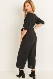 Elegance by Sarah Ruhs Button Front Jumpsuit - Side cropped
