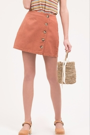 blu Pepper  Button Front Mini Skirt - Product Mini Image