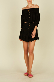 Vintage Havana Button front mini skirt - Product Mini Image