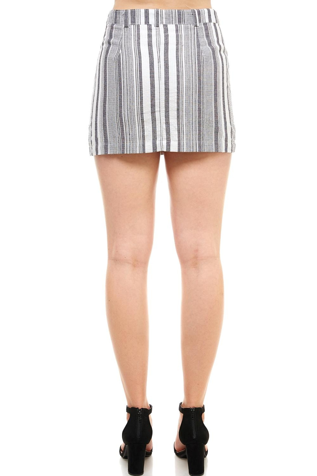 Favlux Button-Front Mini Skirt - Back Cropped Image