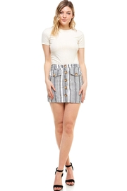 Favlux Button-Front Mini Skirt - Other
