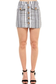 Favlux Button-Front Mini Skirt - Front cropped