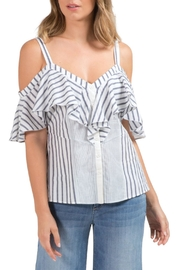 Elan Button-Front Ruffle Top - Product Mini Image