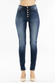 KanCan Button Front Skinnys - Product Mini Image