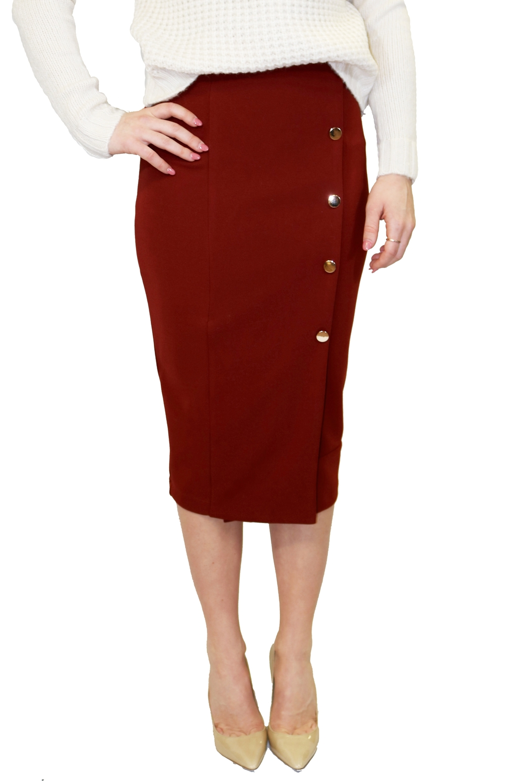 Bishop + Young Button Front Skirt - Main Image