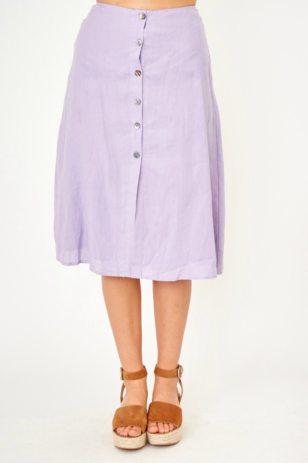 Olivaceous Button front skirt - Main Image