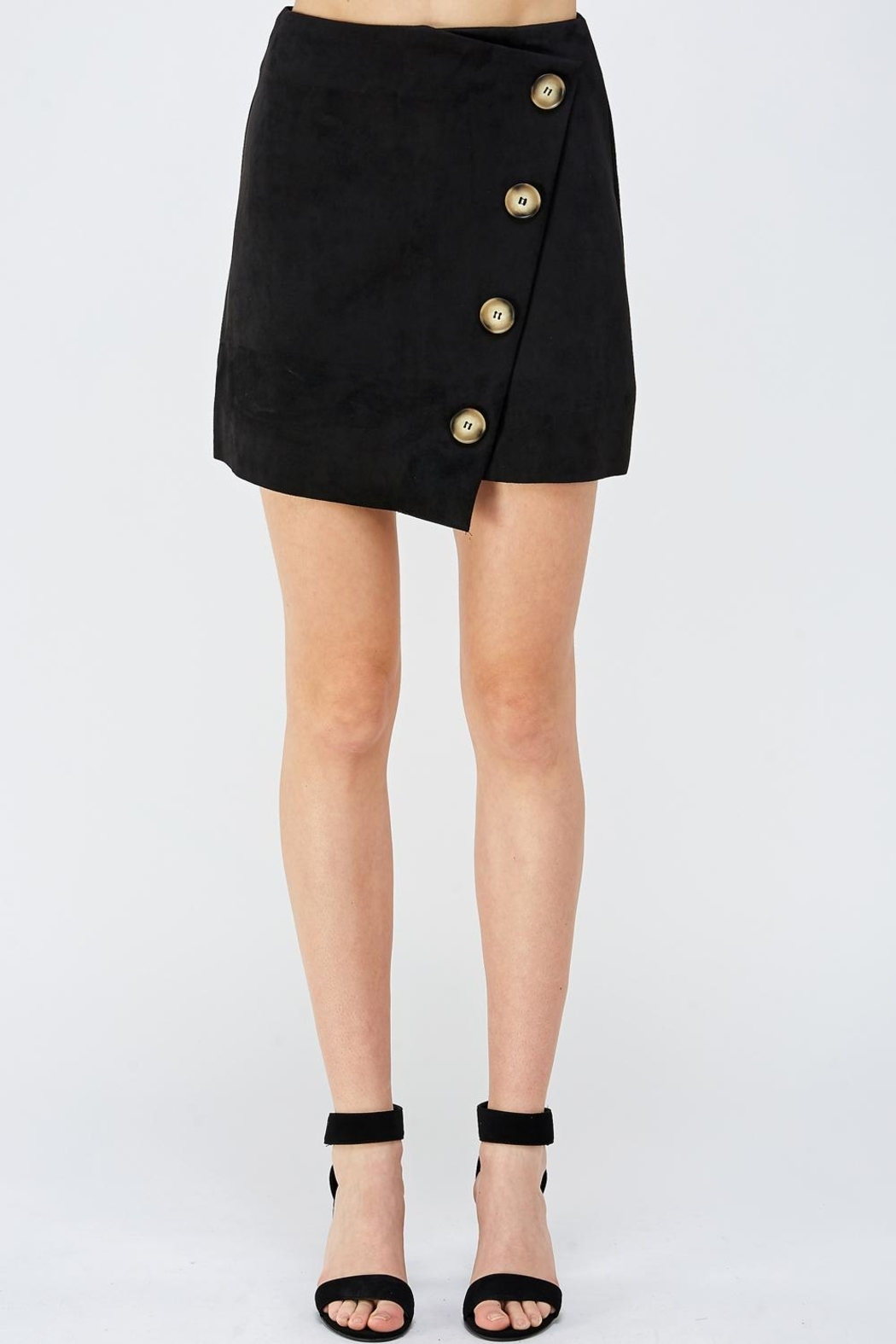 Do & Be Button Front Skirt - Front Cropped Image