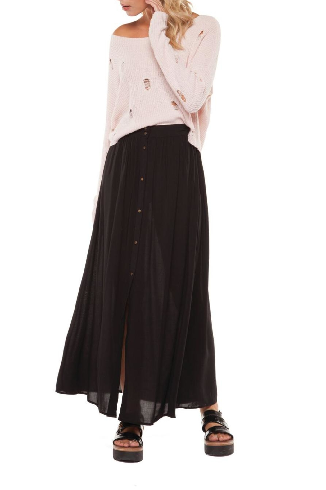 Dex Button Front Skirt - Main Image