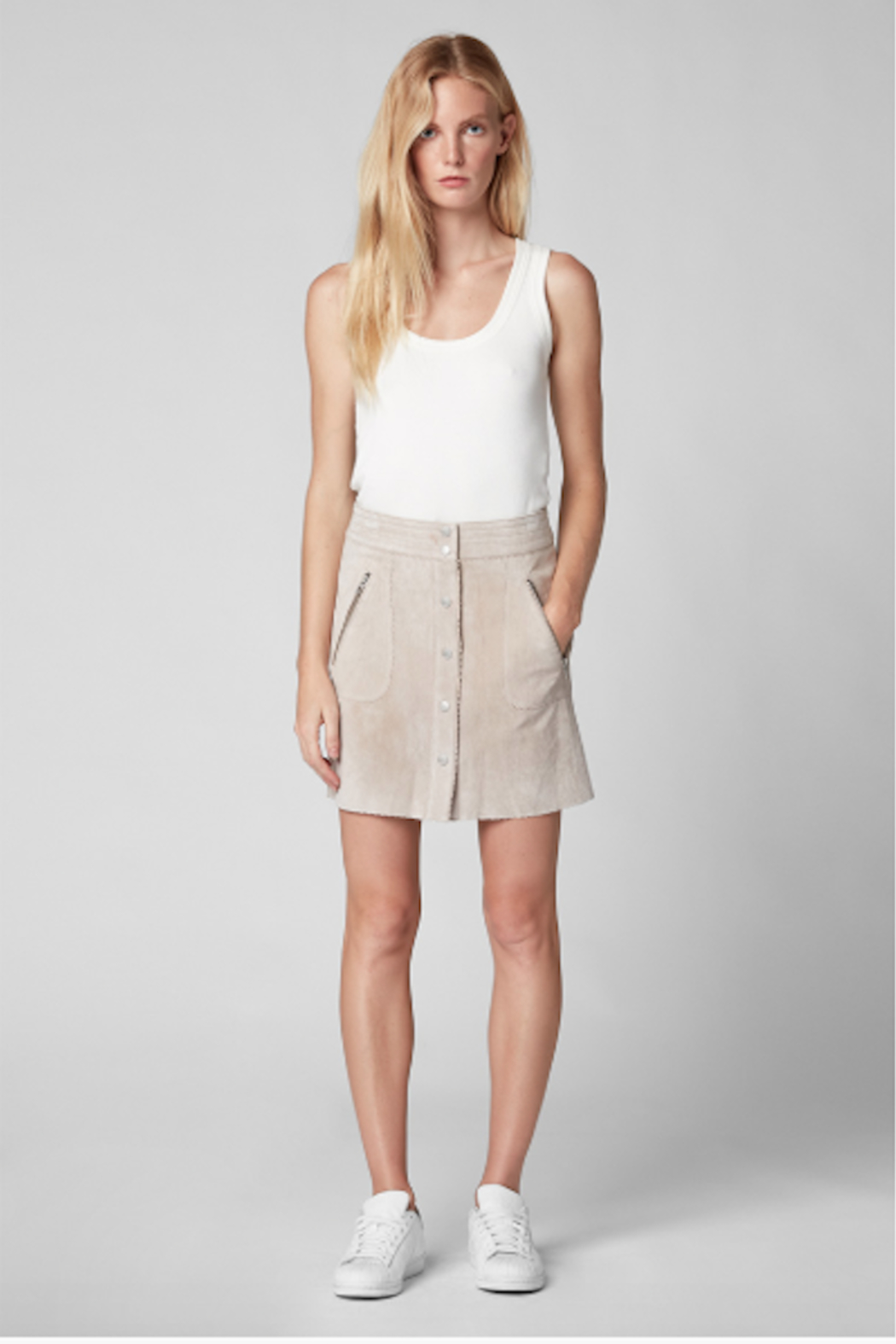 BlankNYC Button Front Suede Skirt - Main Image
