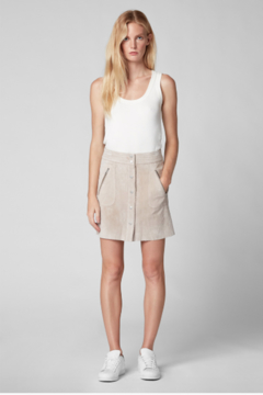 BlankNYC Button Front Suede Skirt - Product List Image