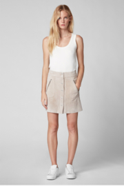 BlankNYC Button Front Suede Skirt - Front cropped