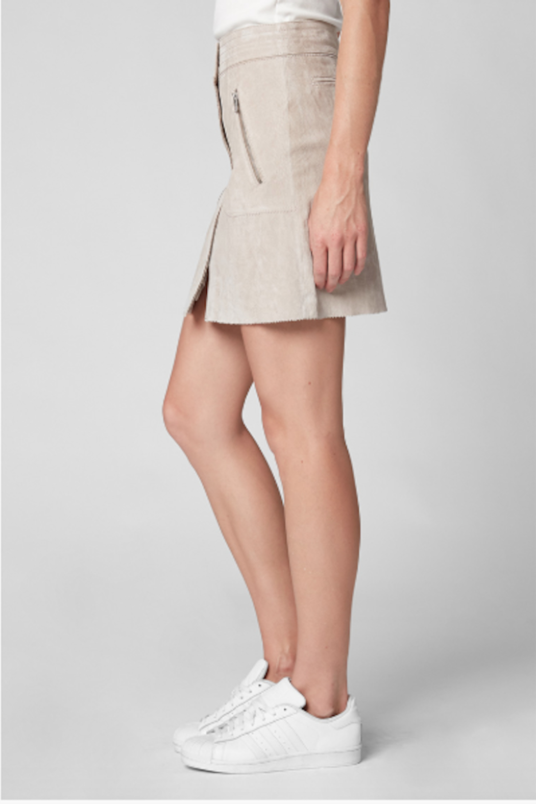 BlankNYC Button Front Suede Skirt - Side Cropped Image