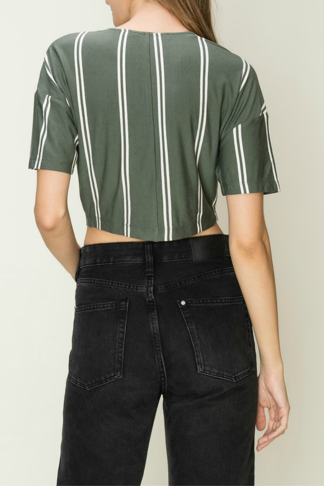 HYFVE Button front tie top - Side Cropped Image