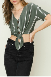 HYFVE Button front tie top - Front cropped