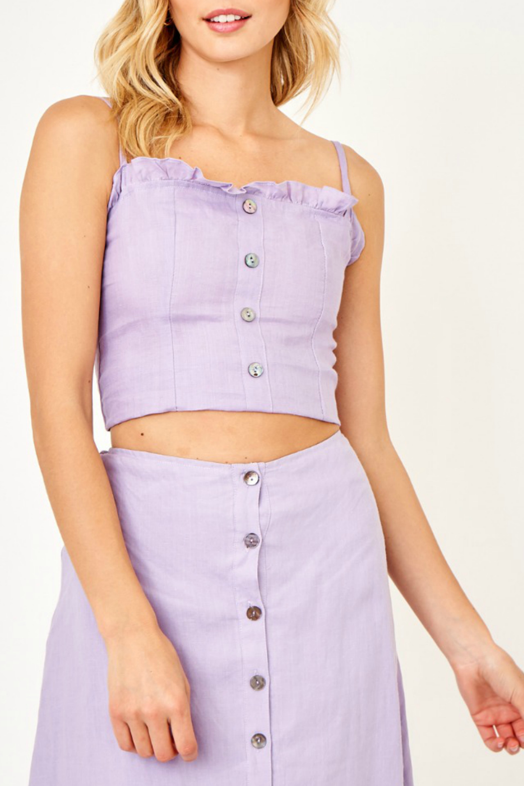 Olivaceous Button front top - Main Image