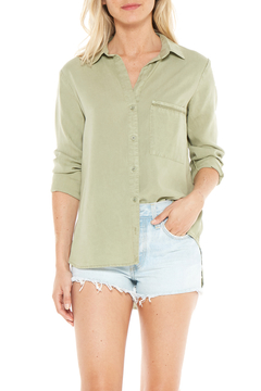 Bella Dahl BUTTON FRONT TRIMMED BACK SHIRT - Product List Image