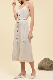 Moon River Button front woven dress - Product Mini Image