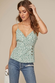 ASTR Button Front Wrap Cami - Back cropped