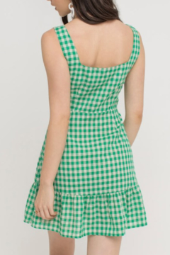Lush Clothing  Button Gingham Dress - Alternate List Image