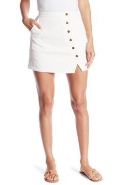 Honey Punch Button Mini Skirt - Product List Image