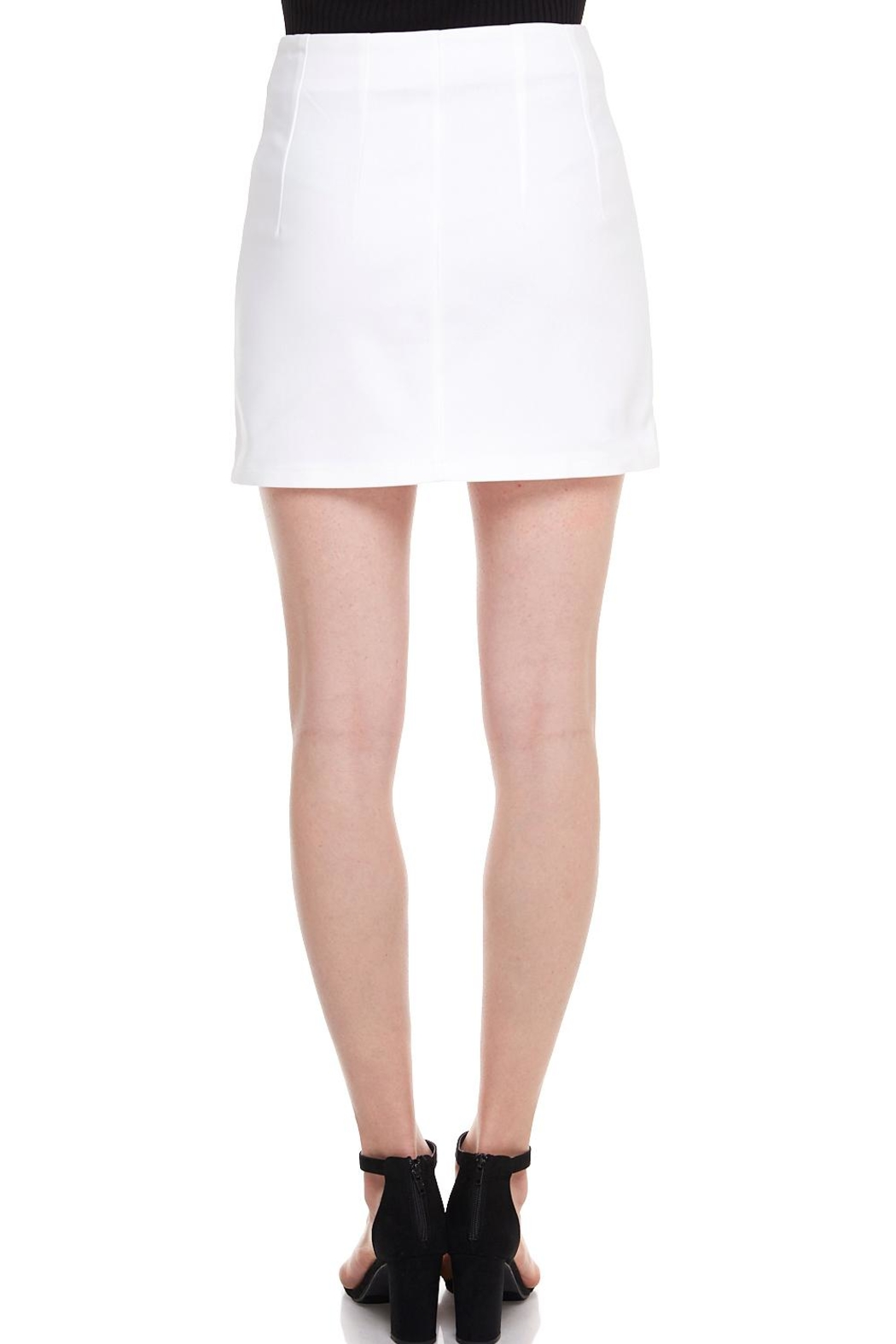 Alythea Button Mini Skirt - Side Cropped Image