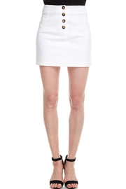 Alythea Button Mini Skirt - Front cropped