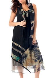 Angel Apparel Button Mosaic Maxi-Dress - Product Mini Image