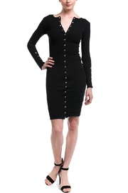 Hot & Delicious Button Ribbed Dress - Product Mini Image