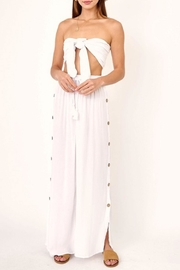 Olivaceous Button-Side Beach Pants - Product Mini Image