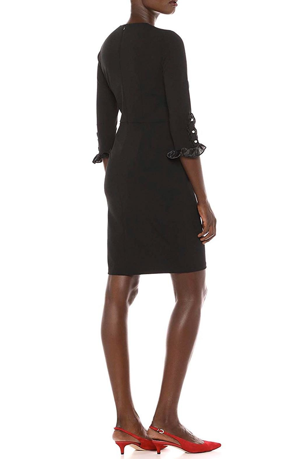 Donna Morgan Button Sleeve Dress - Side Cropped Image