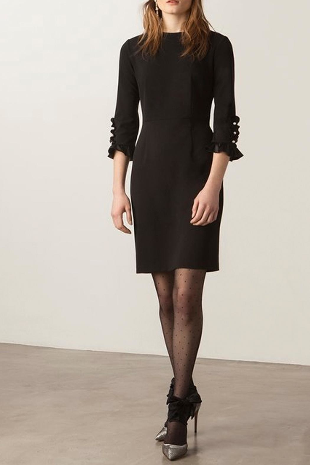 Donna Morgan Button Sleeve Dress - Front Cropped Image