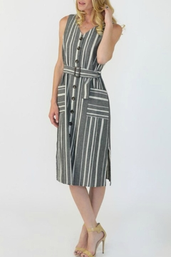 Final Touch Button Striped Dress - Product List Image
