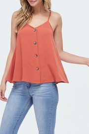 Jolie Button Swing Tank - Back cropped