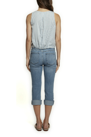 Dex Button & Tie Front Top - Front full body