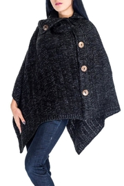 17 STREET Button Trim Poncho - Product Mini Image