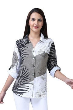 Parsley & Sage Button-Up Abstract Shirt - Alternate List Image