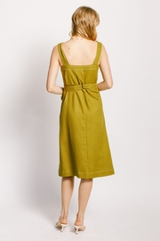 Moodie Button Up Belted Dress - Front full body