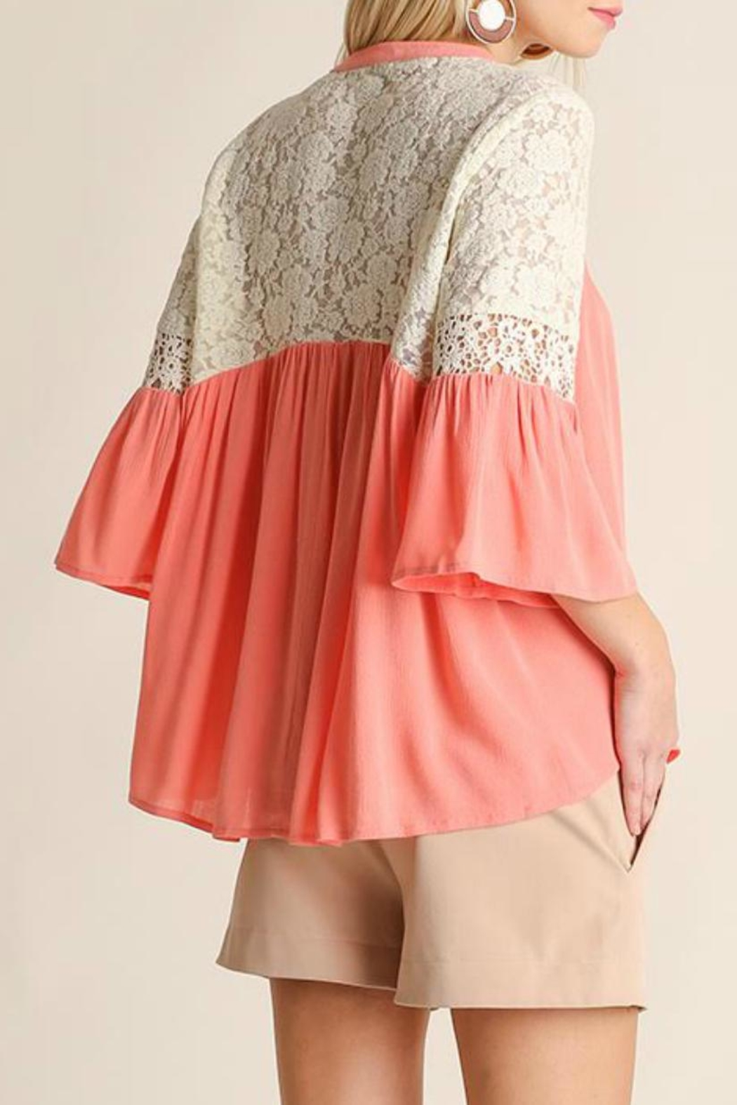 Umgee USA Button Up Blouse - Side Cropped Image