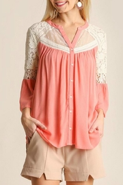 Umgee USA Button Up Blouse - Front cropped