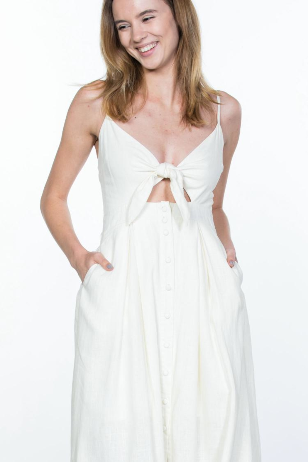 Ark & Co. Button-Up Cami Dress - Side Cropped Image