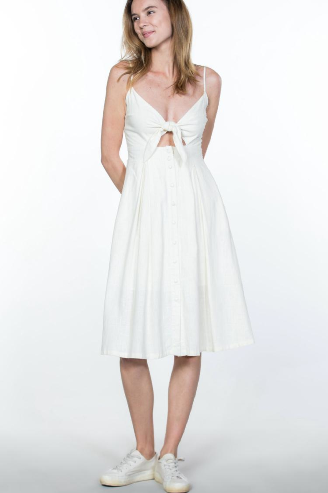 Ark & Co. Button-Up Cami Dress - Front Full Image