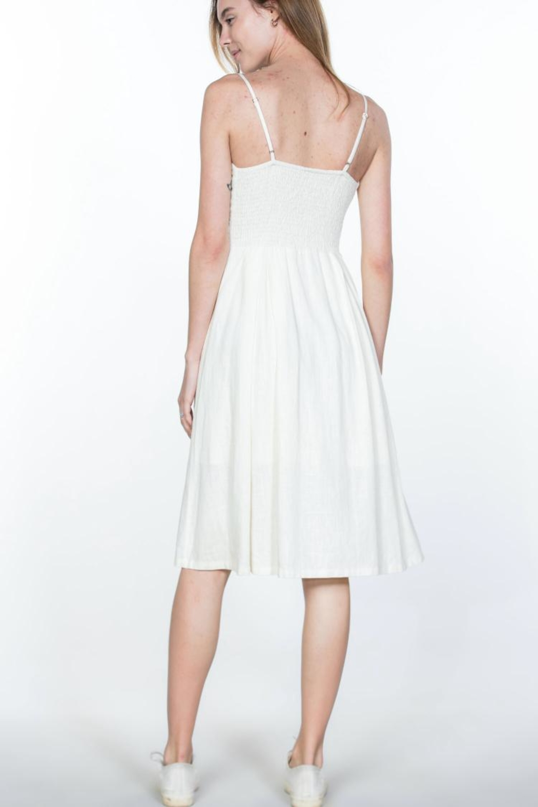 Ark & Co. Button-Up Cami Dress - Back Cropped Image