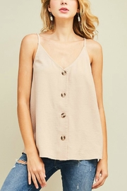 Entro Button Up Camisole - Front cropped