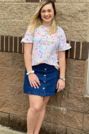 The Royal Standard Button up Denim Skirt - Product Mini Image